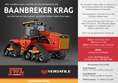 Versatile Tractor Launch Invite