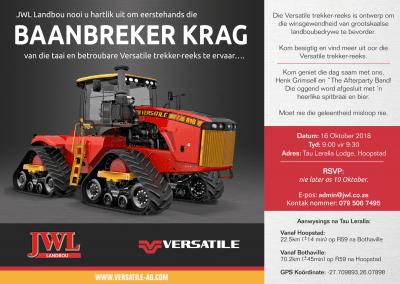 Versatile Tractor Launch Invite